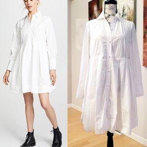Madewell Poplin Box-Pleat Shirt Dress w Pockets